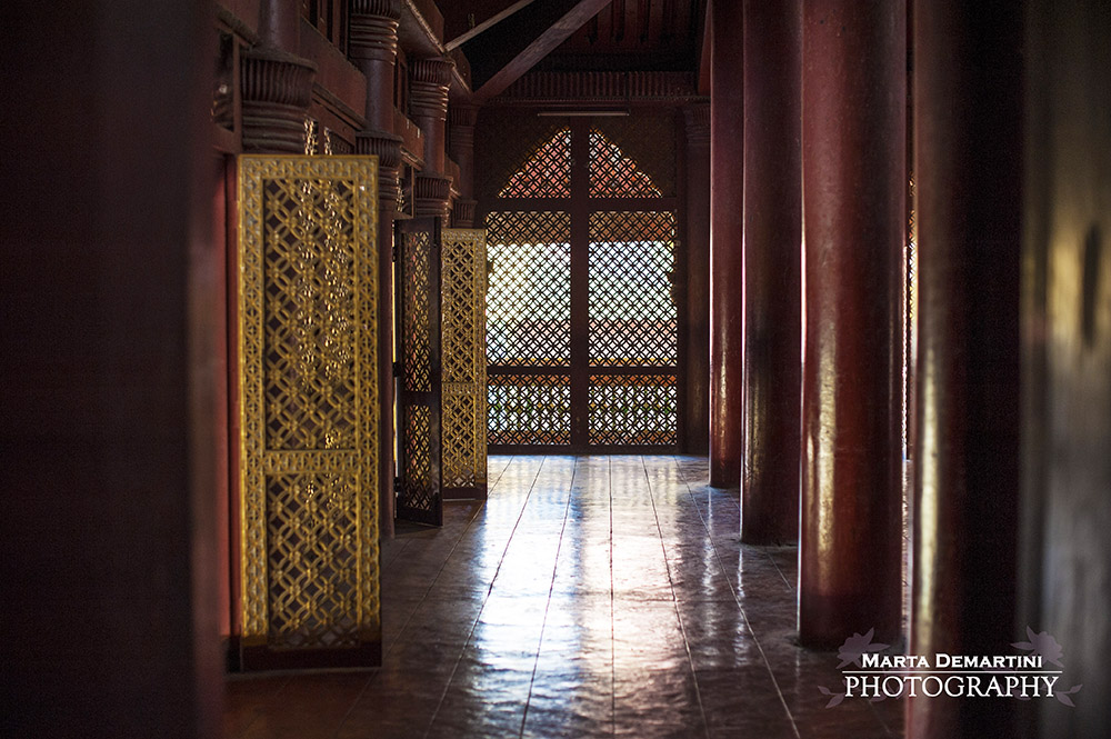 Inside the Royal Palace in Mandalay, Myanmar