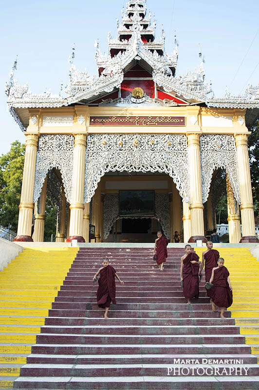 Entrance at Mandalay Hill, Myanmar