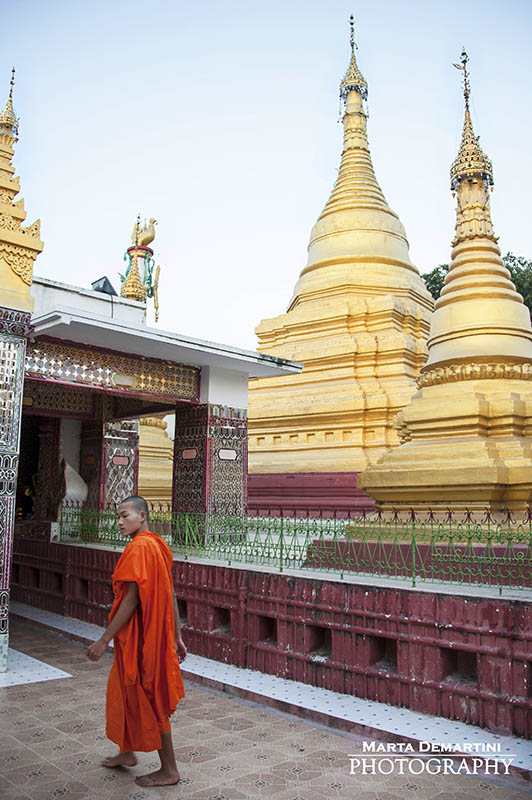 Buddhist Monk in Mandalay Hill, Myanmar