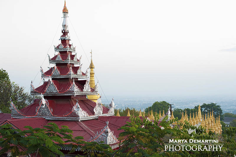 Pagoda on Mandalay Hill, Myanamr